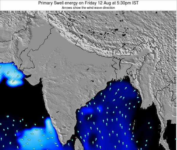Nepal Primary Swell energy on Tuesday 26 Mar at 5:30am IST map