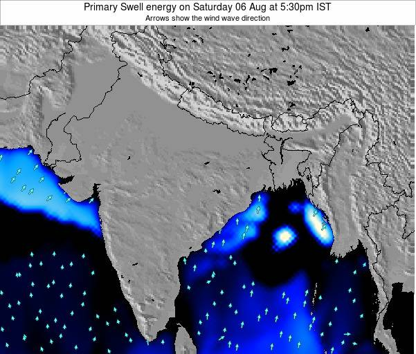 Nepal Primary Swell energy on Wednesday 27 Mar at 11:30am IST map