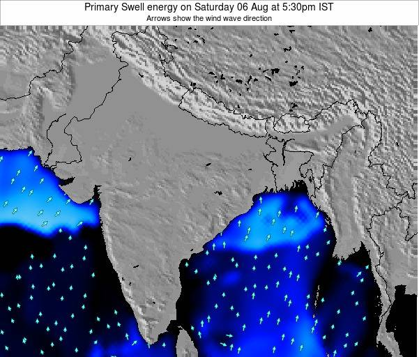 Nepal Primary Swell energy on Monday 22 Apr at 5:30am IST map