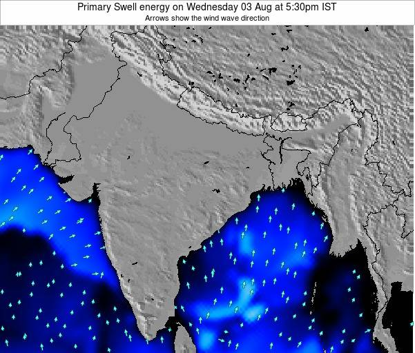 Nepal Primary Swell energy on Sunday 23 Sep at 5:30am IST map