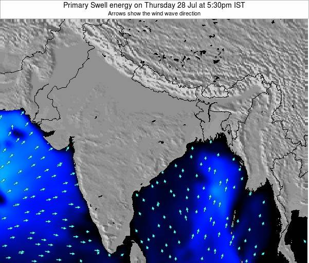 Nepal Primary Swell energy on Wednesday 27 Mar at 5:30pm IST map