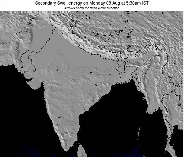 India Secondary Swell energy on Monday 22 Apr at 5:30am IST map
