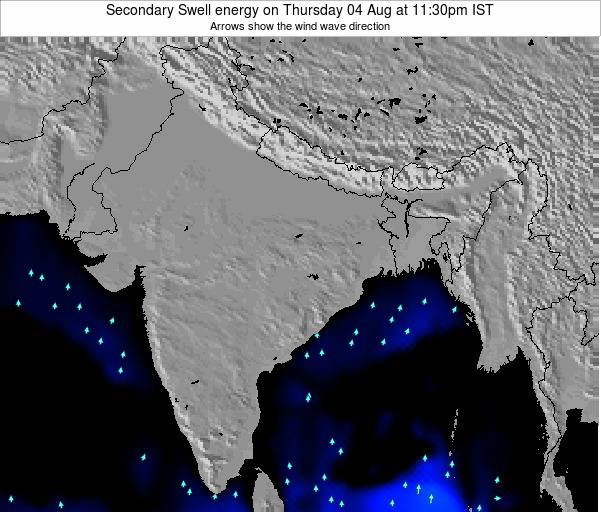 Bangladesh Secondary Swell energy on Thursday 31 Jul at 5:30pm IST