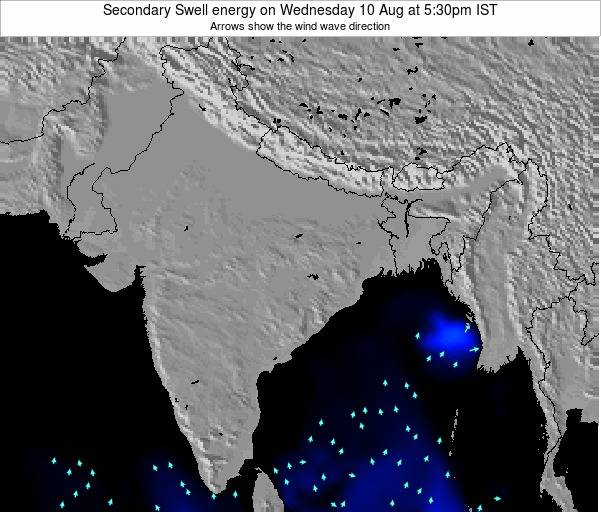 India Secondary Swell energy on Saturday 15 Dec at 11:30am IST map