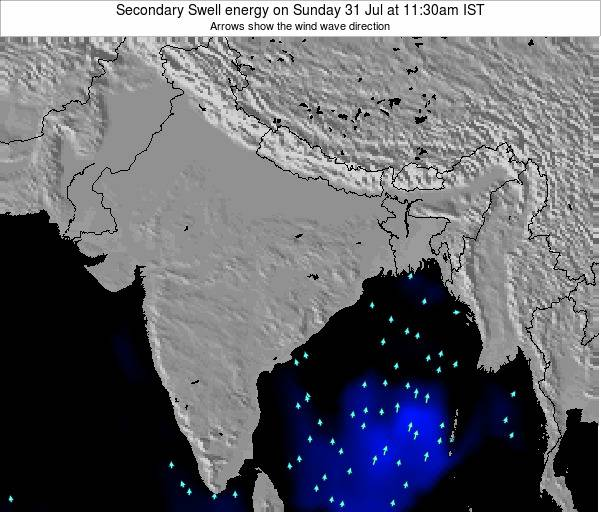 India Secondary Swell energy on Thursday 20 Dec at 11:30pm IST map