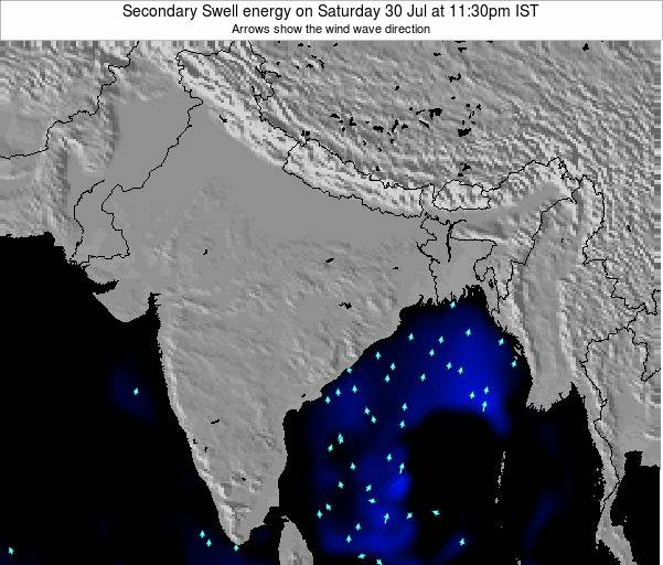 India Secondary Swell energy on Wednesday 01 May at 11:30am IST map