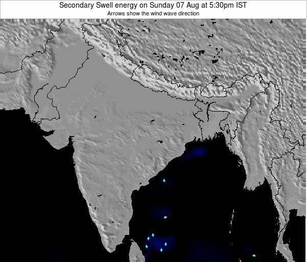 India Secondary Swell energy on Saturday 21 Apr at 5:30pm IST map