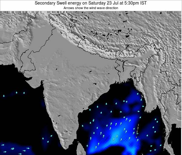 India Secondary Swell energy on Friday 20 Jul at 11:30pm IST map