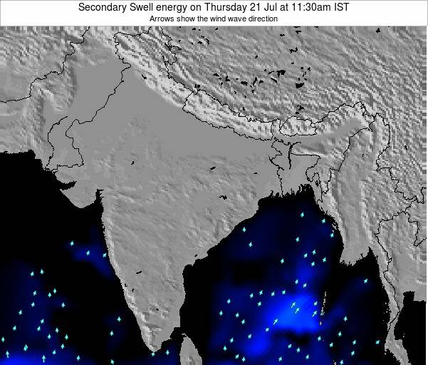 India Secondary Swell energy on Saturday 27 Apr at 5:30pm IST map