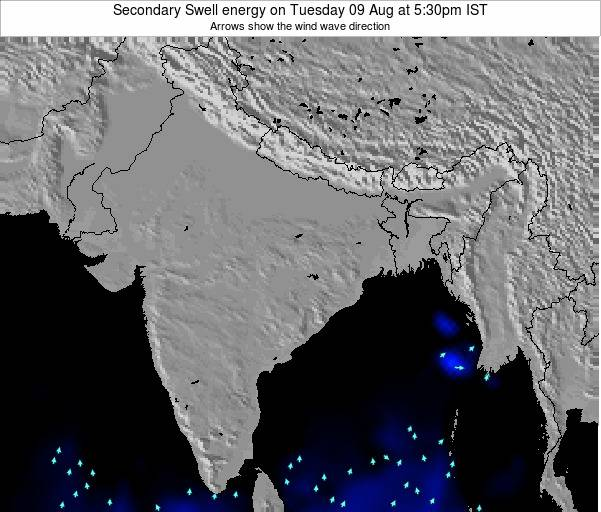 India Secondary Swell energy on Thursday 18 Oct at 5:30pm IST map