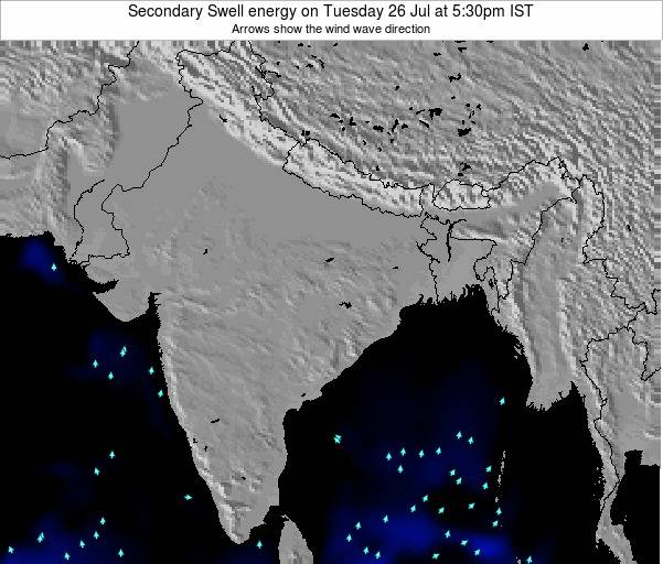 Bangladesh Secondary Swell energy on Monday 10 Mar at 11:30pm IST