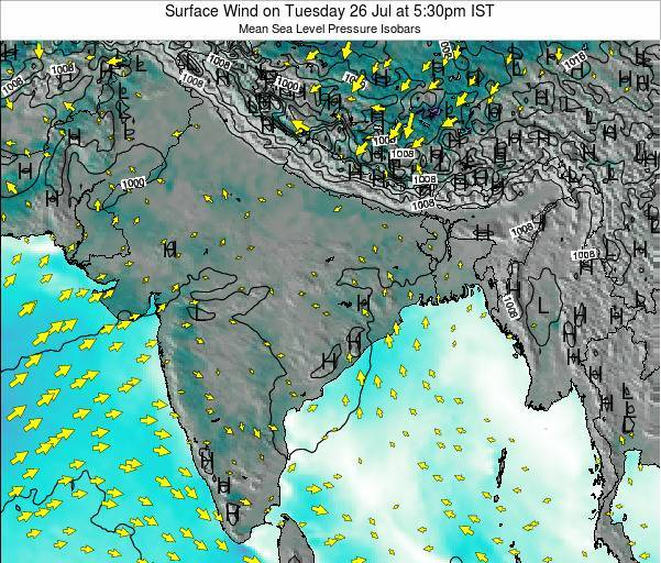 India Surface Wind on Wednesday 29 May at 5:30pm IST