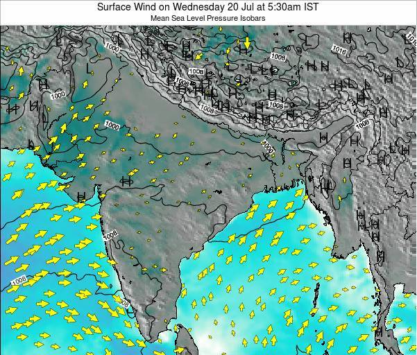 Bangladesh Surface Wind on Sunday 26 May at 5:30am IST