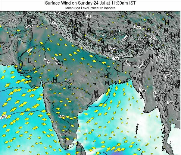 India Surface Wind on Saturday 18 May at 11:30am IST