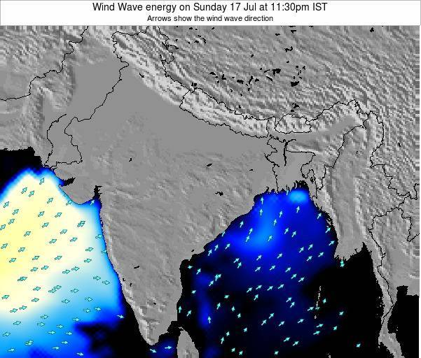 India Wind Wave energy on Monday 20 May at 5:30am IST