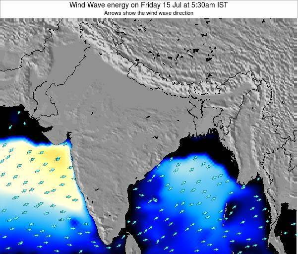 India Wind Wave energy on Sunday 26 May at 5:30am IST