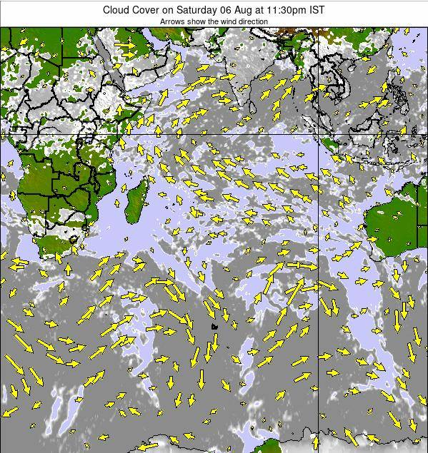 Indian-Ocean Cloud Cover on Tuesday 24 Apr at 5:30pm IST map