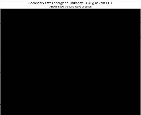 Indiana Secondary Swell energy on Tuesday 24 Jul at 2pm EDT map