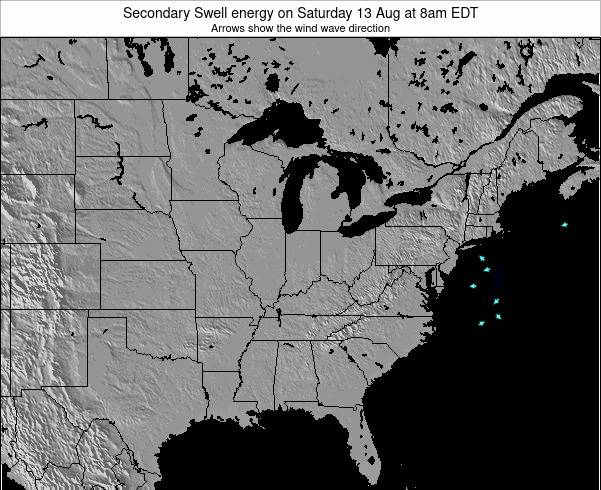 Indiana Secondary Swell energy on Tuesday 29 Apr at 8pm EDT