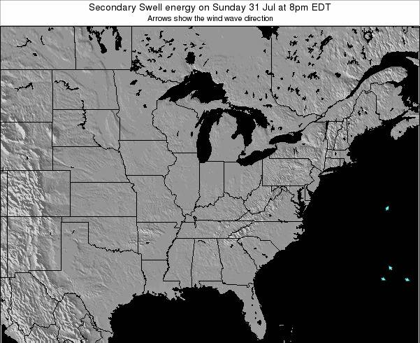 Indiana Secondary Swell energy on Saturday 01 Jun at 8am EDT