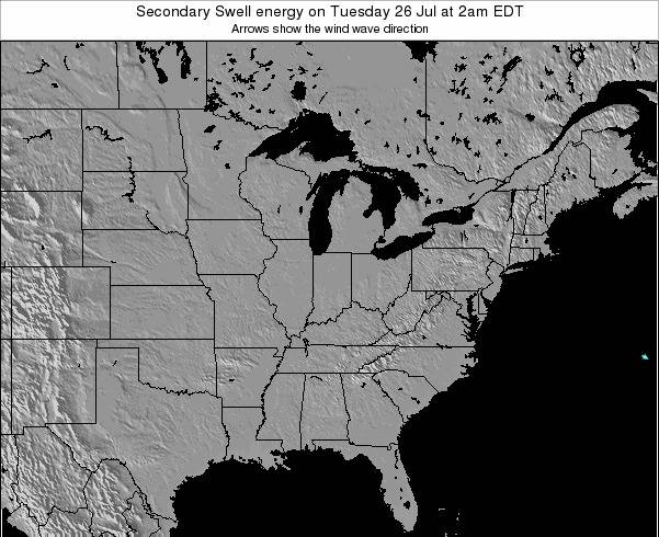 Indiana Secondary Swell energy on Sunday 08 Dec at 1pm EST