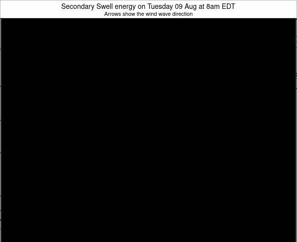 Indiana Secondary Swell energy on Sunday 19 May at 8pm EDT