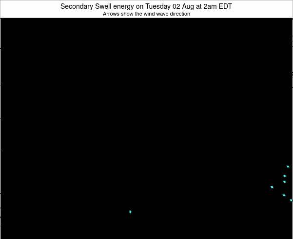 Ohio Secondary Swell energy on Saturday 25 May at 8am EDT