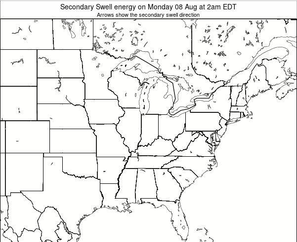 Indiana Secondary Swell energy on Thursday 24 Jul at 8pm EDT