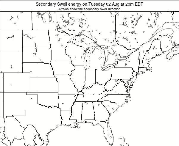 Ohio Secondary Swell energy on Monday 28 Jul at 8pm EDT