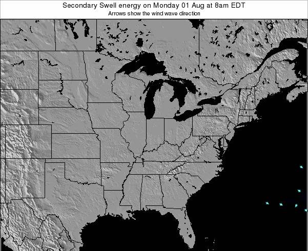 Indiana Secondary Swell energy on Thursday 04 Sep at 8pm EDT