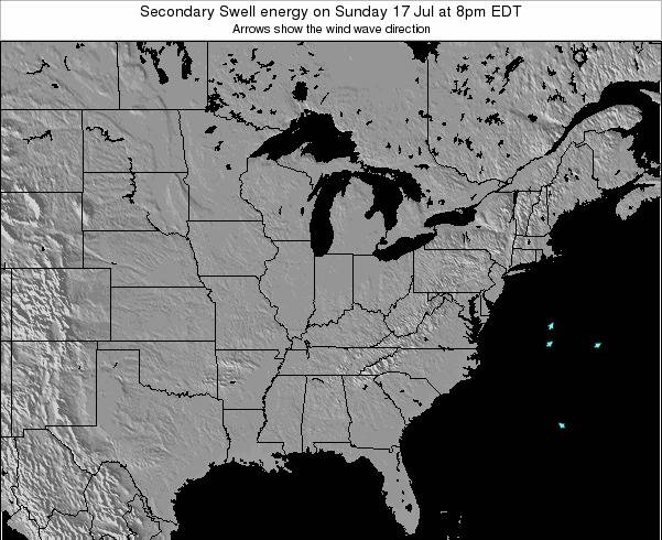 Indiana Secondary Swell energy on Wednesday 23 Apr at 2am EDT