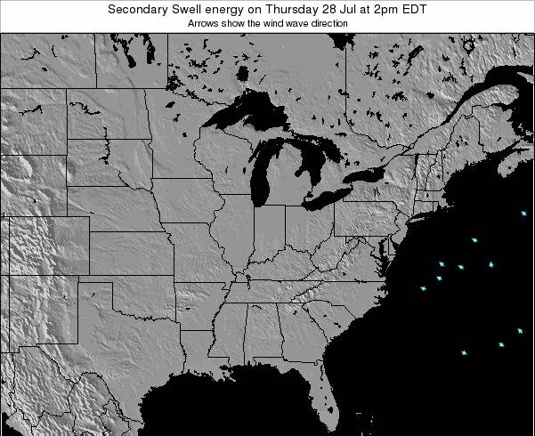 Ohio Secondary Swell energy on Friday 24 May at 2pm EDT