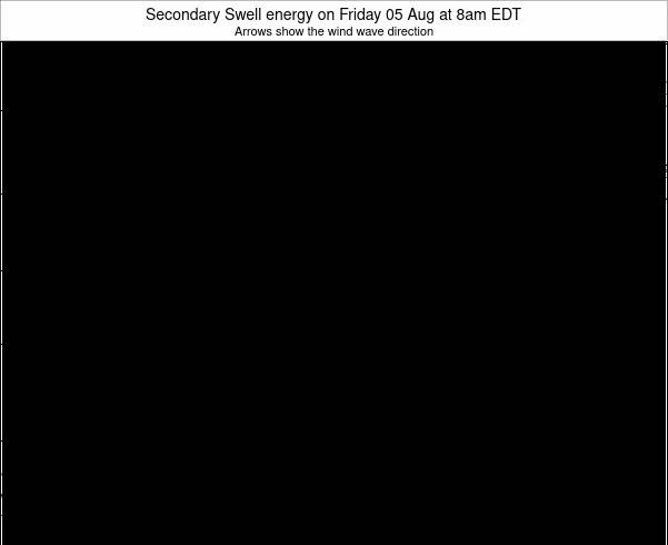 Indiana Secondary Swell energy on Tuesday 21 May at 8am EDT
