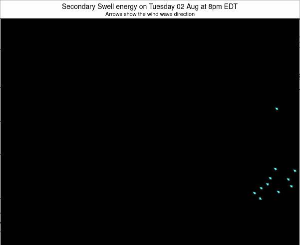 Ohio Secondary Swell energy on Friday 01 May at 8am EDT
