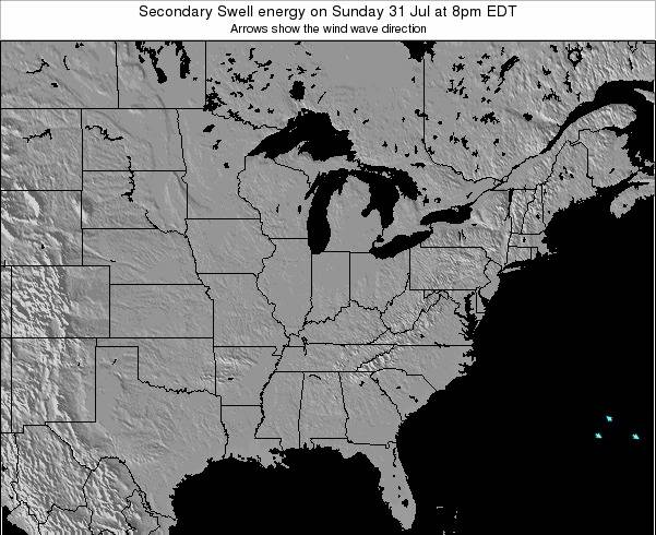 Indiana Secondary Swell energy on Tuesday 22 Apr at 8pm EDT
