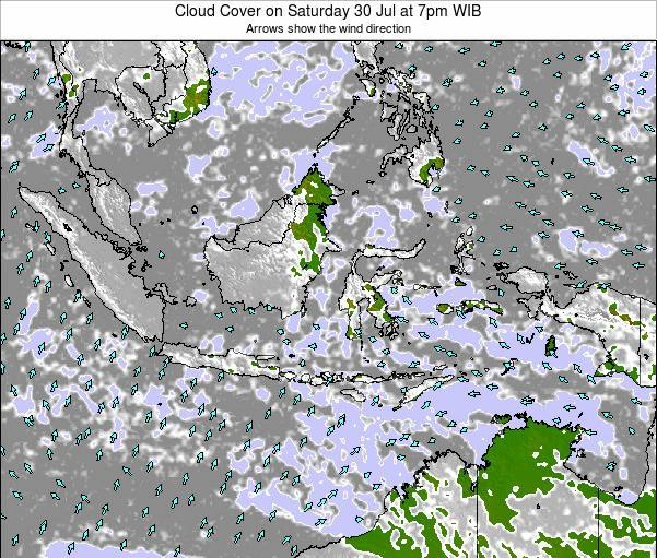 Indonesia Cloud Cover on Saturday 04 Mar at 7am WIB