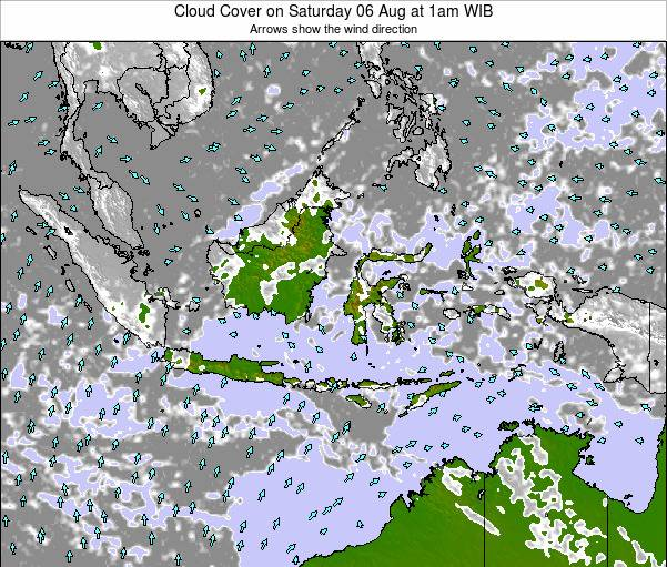 Indonesia Cloud Cover on Friday 31 May at 1am WIT
