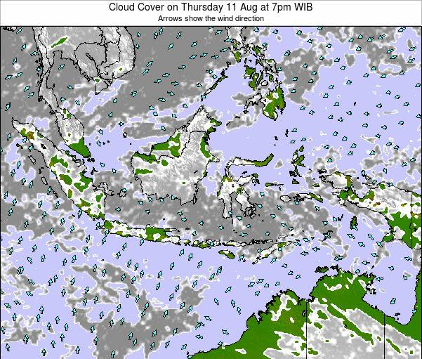 Christmas Island Cloud Cover on Tuesday 28 May at 1am WIT map