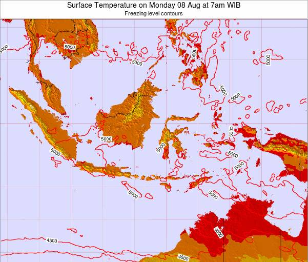 Indonesia Surface Temperature on Friday 31 May at 1am WIT