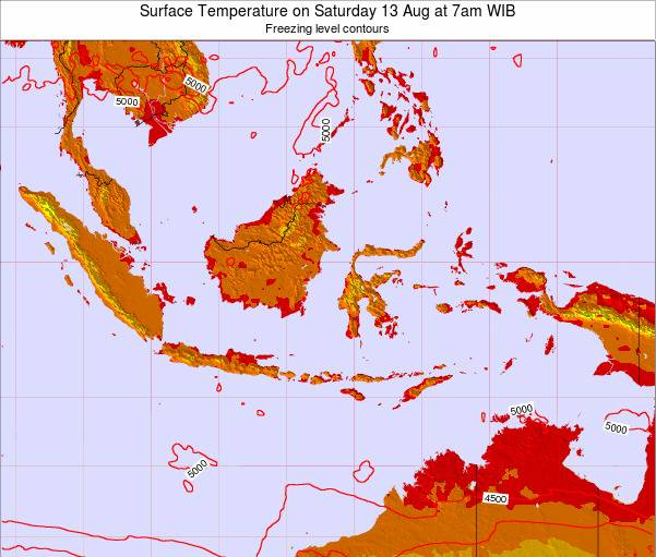 EastTimor Surface Temperature on Wednesday 29 May at 1pm WIT