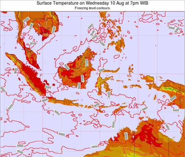 Indonesia Surface Temperature on Saturday 15 Mar at 1pm WIT