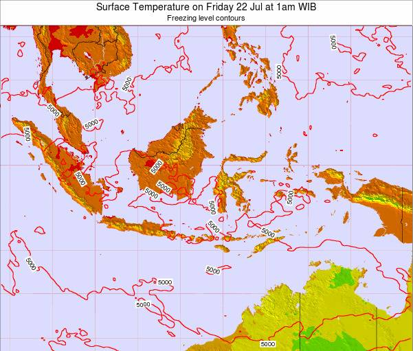 Indonesia Surface Temperature on Wednesday 30 Apr at 1am WIT