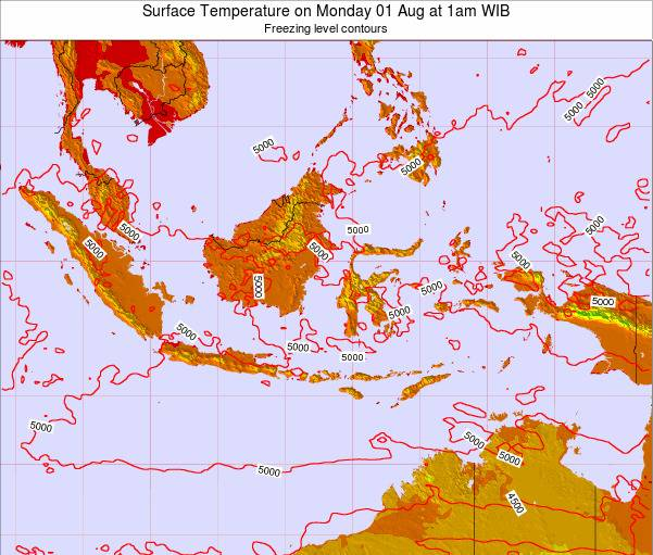 EastTimor Surface Temperature on Wednesday 29 May at 7pm WIT