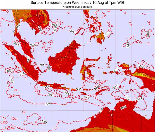 Indonesia Surface Temperature on Sunday 26 May at 7am WIT