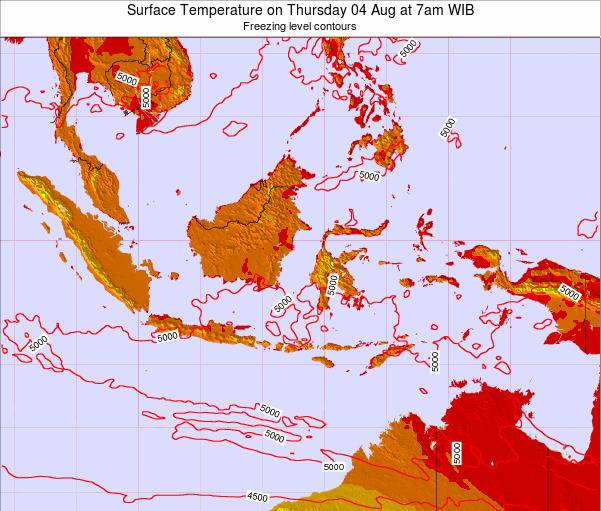 Christmas Island Surface Temperature on Wednesday 22 May at 1pm WIT map