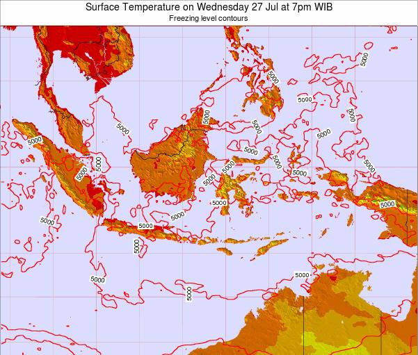 Indonesia Surface Temperature on Monday 30 Nov at 1am WIB