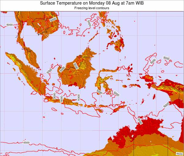 Indonesia Surface Temperature on Saturday 28 May at 1am WIB