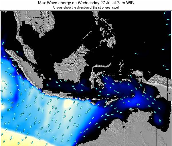 EastTimor Max Wave energy on Tuesday 29 Apr at 1am WIT