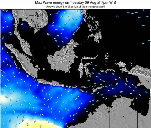 Indonesia Max Wave energy on Monday 27 May at 1am WIT