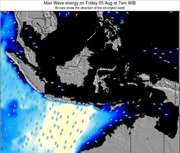 EastTimor Max Wave energy on Monday 23 Dec at 7am WIT